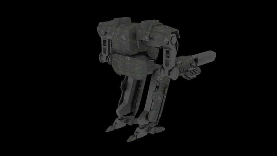 Mech robot Rigged royalty-free 3d model - Preview no. 4