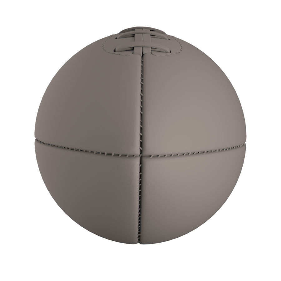 Football Ball royalty-free 3d model - Preview no. 8