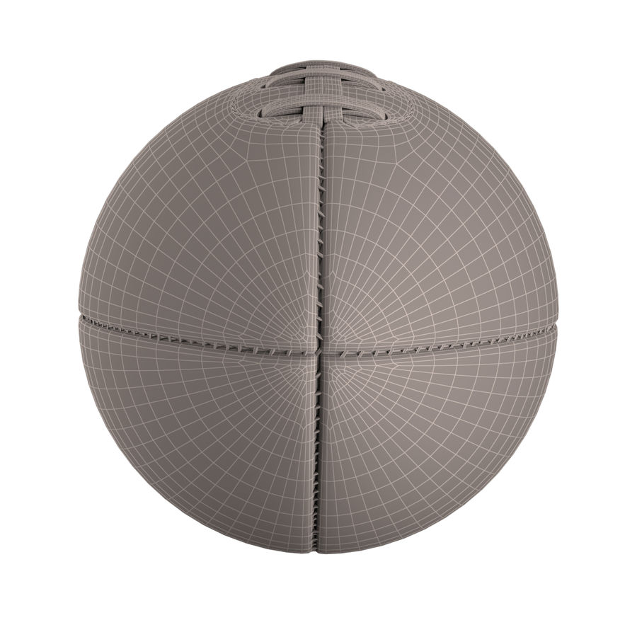 Football Ball royalty-free 3d model - Preview no. 9