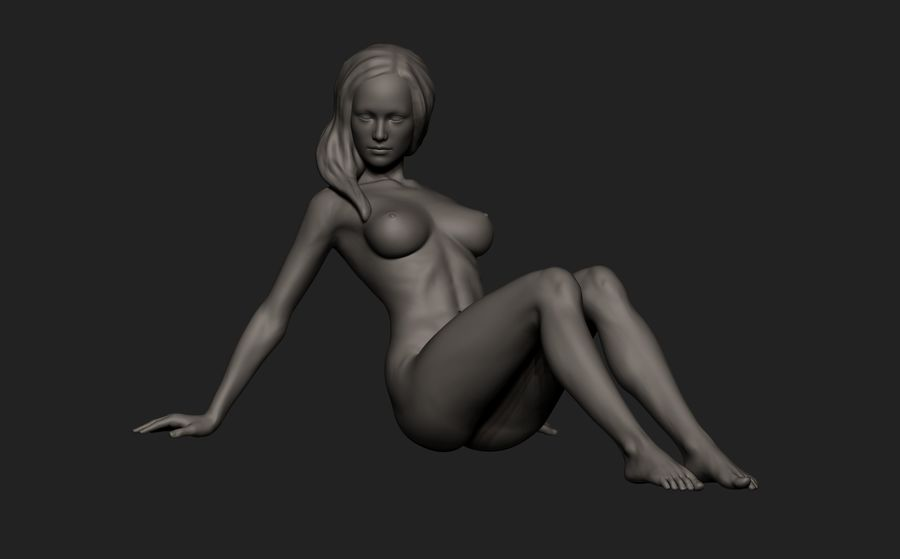 Mujer royalty-free modelo 3d - Preview no. 3