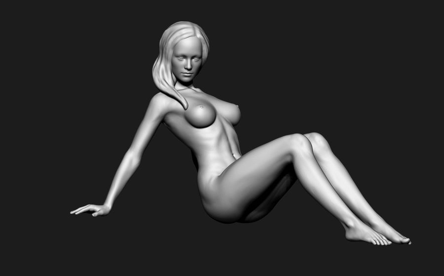 Mujer royalty-free modelo 3d - Preview no. 4