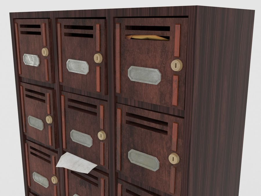 Archive Locker royalty-free 3d model - Preview no. 2