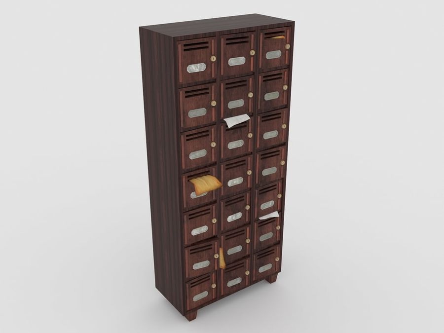Archive Locker royalty-free 3d model - Preview no. 1