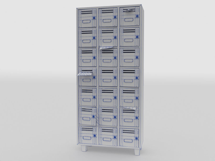 Archive Locker royalty-free 3d model - Preview no. 4