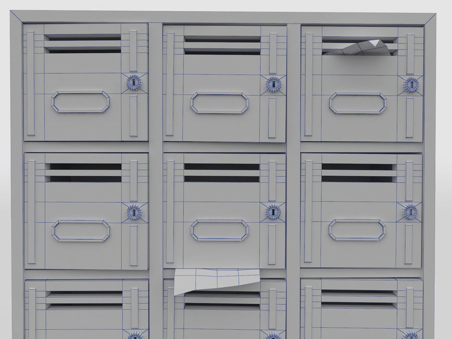 Archive Locker royalty-free 3d model - Preview no. 5