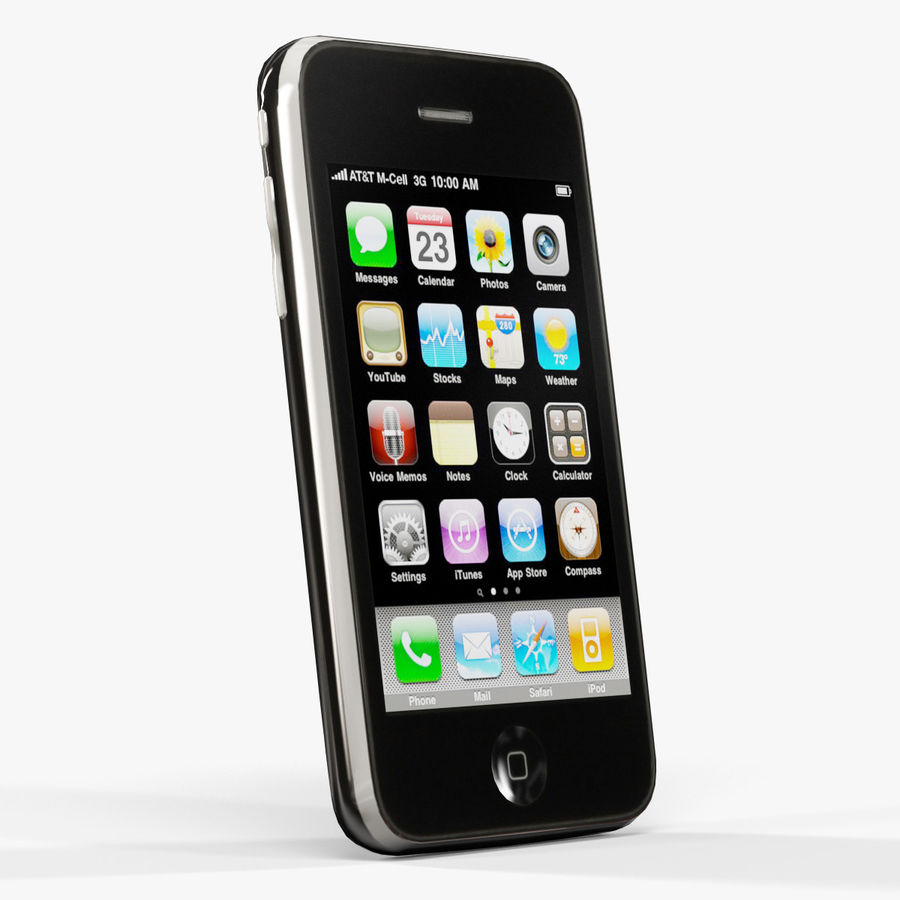 Apple iPhone 3G'ler royalty-free 3d model - Preview no. 3