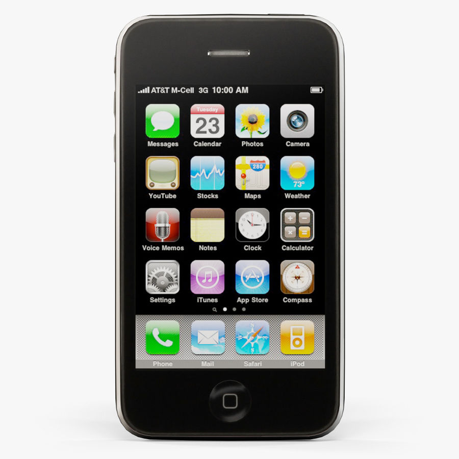 Apple iPhone 3G'ler royalty-free 3d model - Preview no. 1
