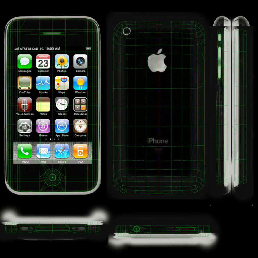 Apple iPhone 3G'ler royalty-free 3d model - Preview no. 12