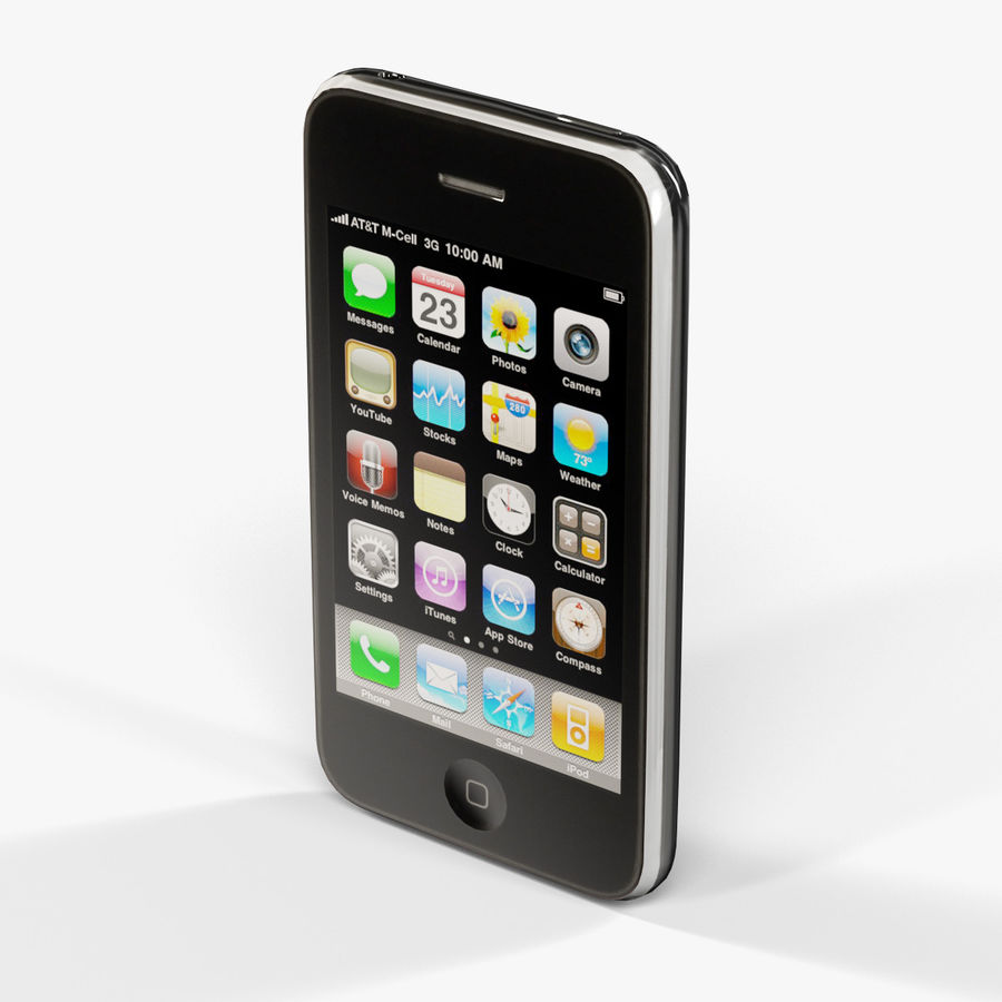Apple iPhone 3G'ler royalty-free 3d model - Preview no. 4