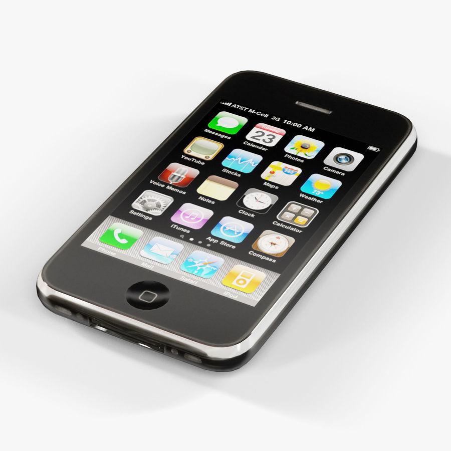 Apple iPhone 3G'ler royalty-free 3d model - Preview no. 8