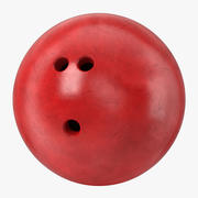 Bowling Ball Red 3d model