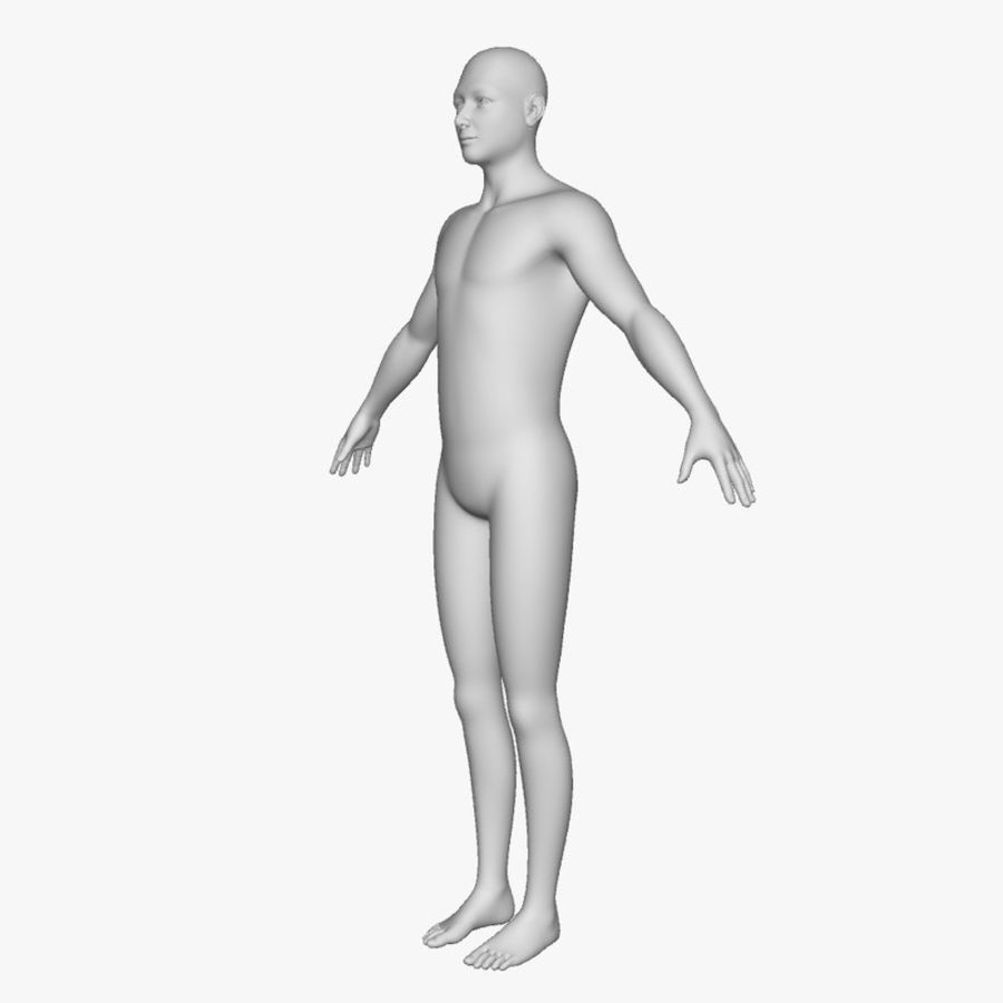 Boy royalty-free 3d model - Preview no. 6