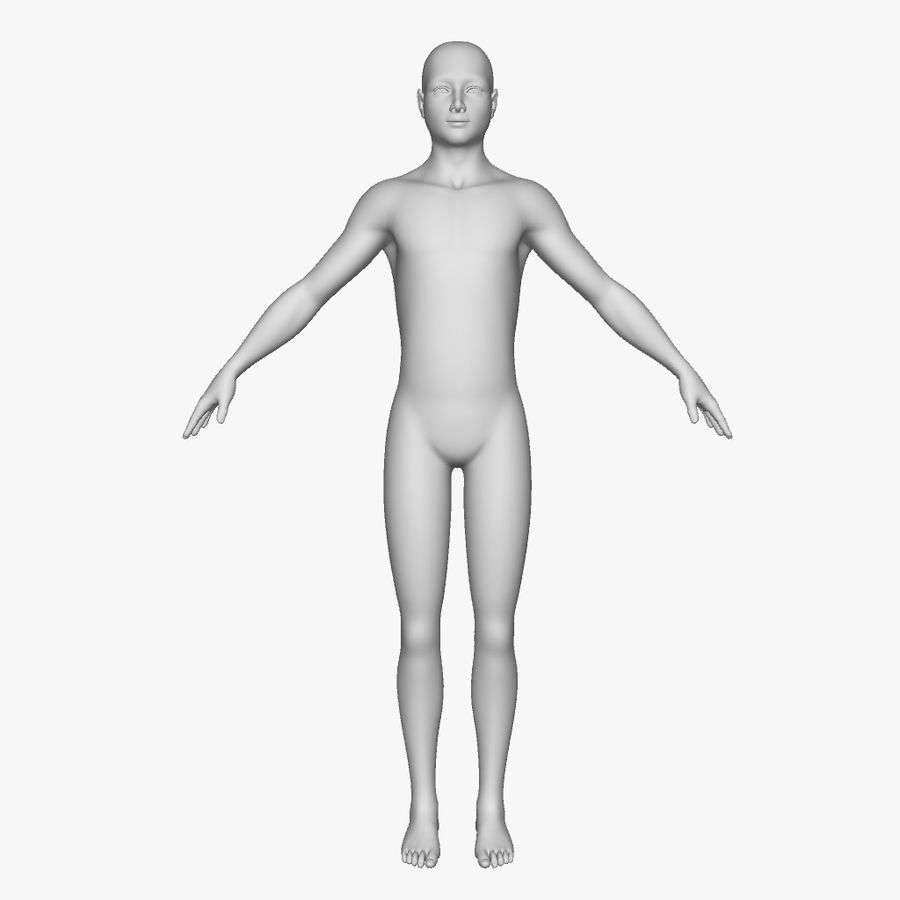 Boy royalty-free 3d model - Preview no. 5