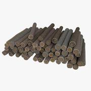 Madeira Log 5 Low Poly 3d model
