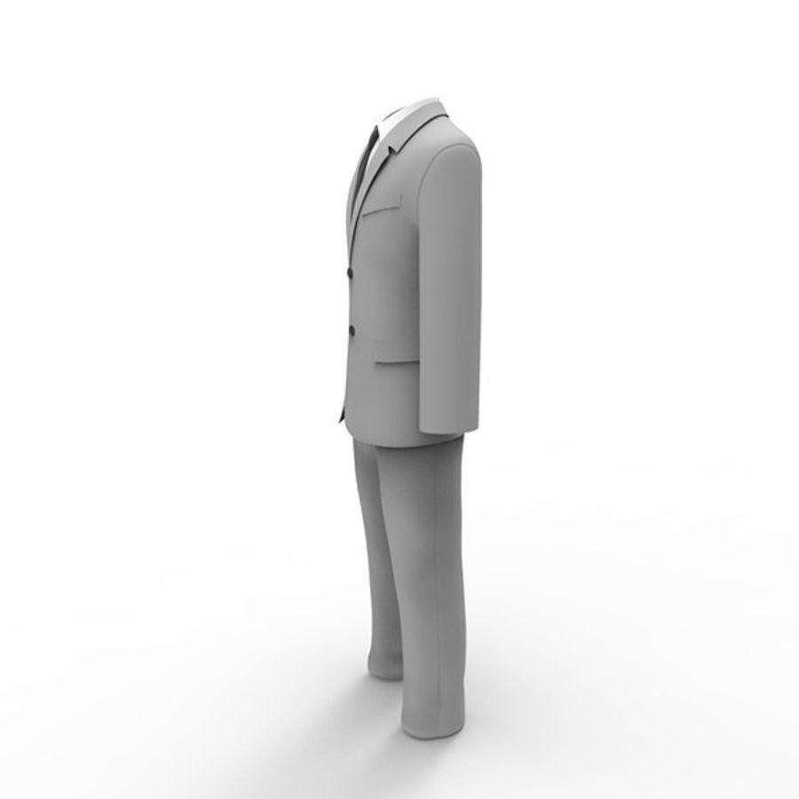 Man suit royalty-free 3d model - Preview no. 4