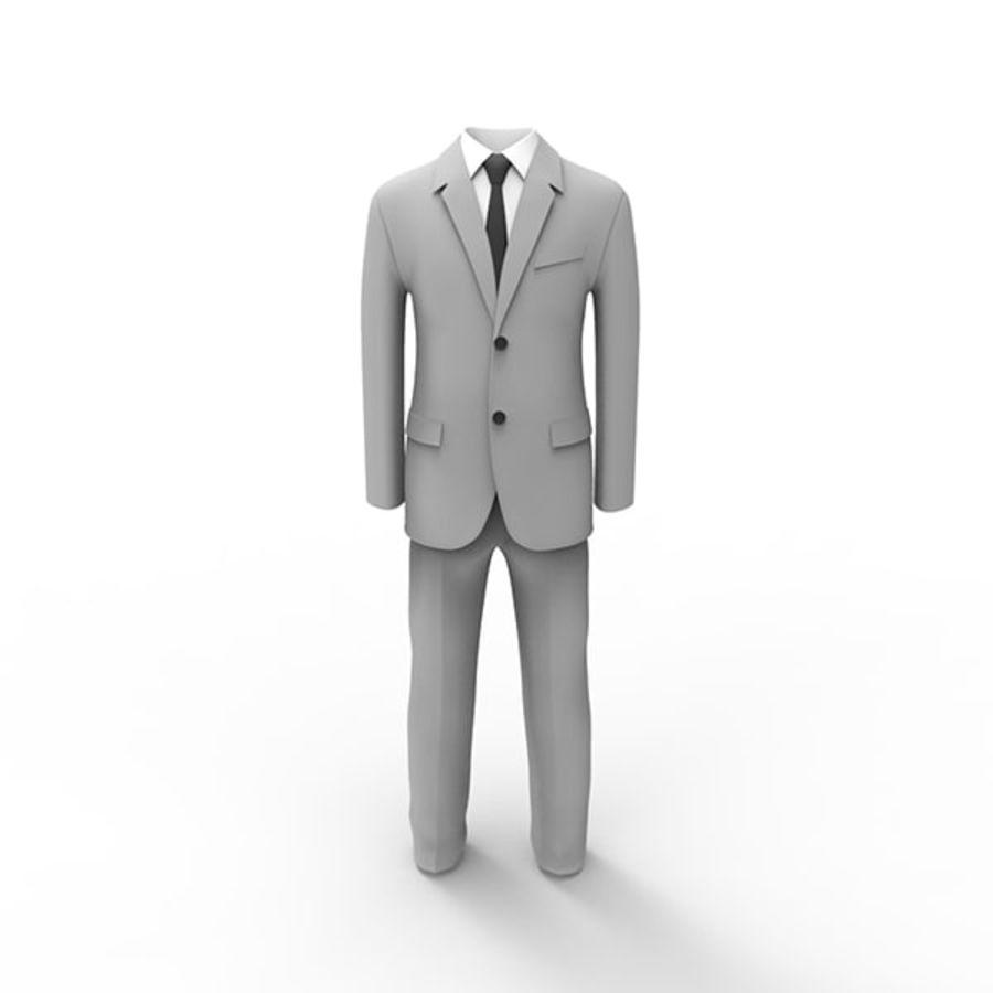 Man suit royalty-free 3d model - Preview no. 2
