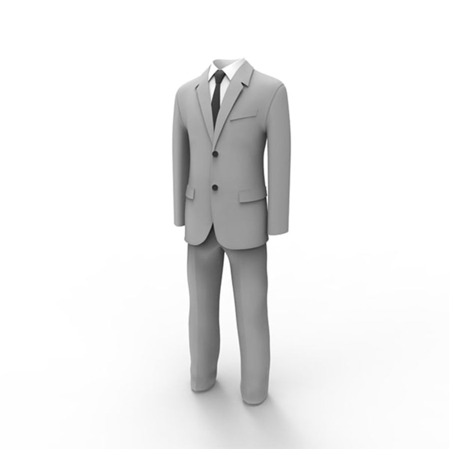 Man suit royalty-free 3d model - Preview no. 1