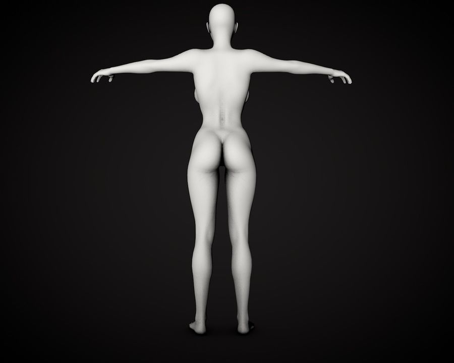 Beautiful Female Body royalty-free 3d model - Preview no. 4