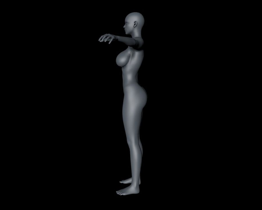 Beautiful Female Body royalty-free 3d model - Preview no. 5