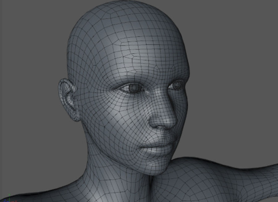 Beautiful Female Body royalty-free 3d model - Preview no. 6