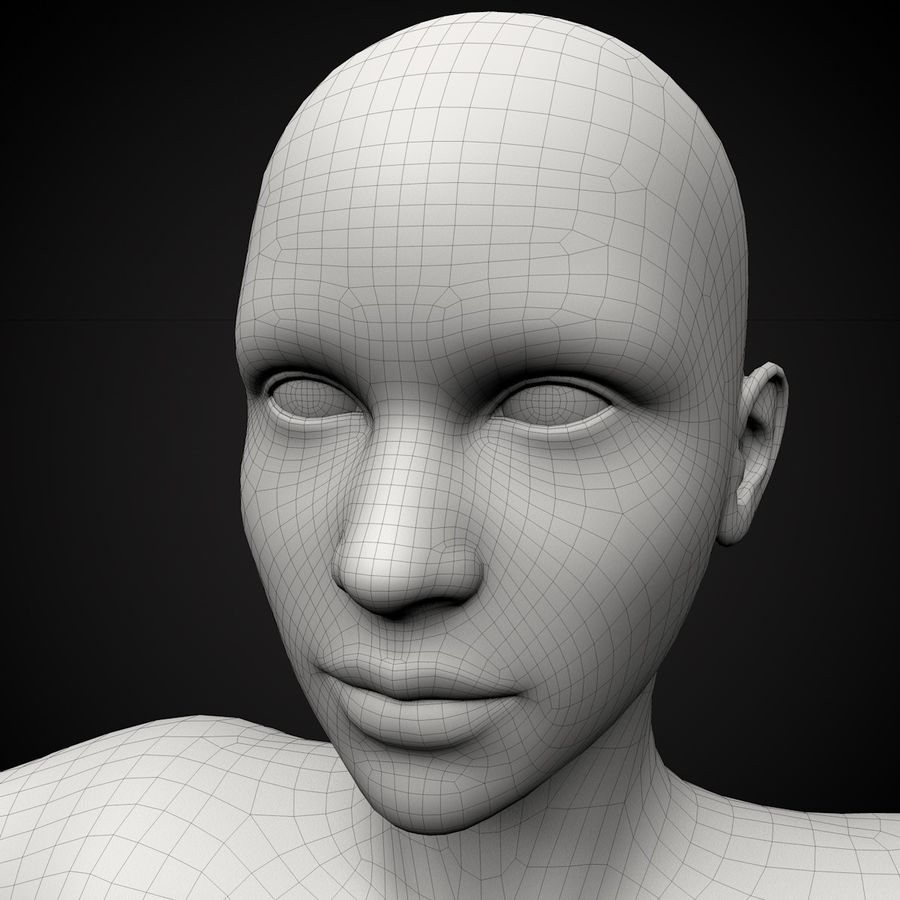Beautiful Female Body royalty-free 3d model - Preview no. 2