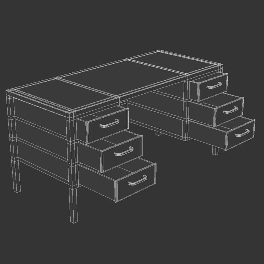 Bureau royalty-free 3d model - Preview no. 7