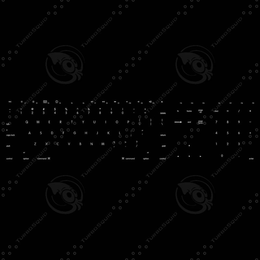 Apple Keyboard MB110 royalty-free 3d model - Preview no. 11