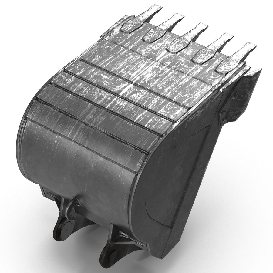 Excavator Bucket royalty-free 3d model - Preview no. 5