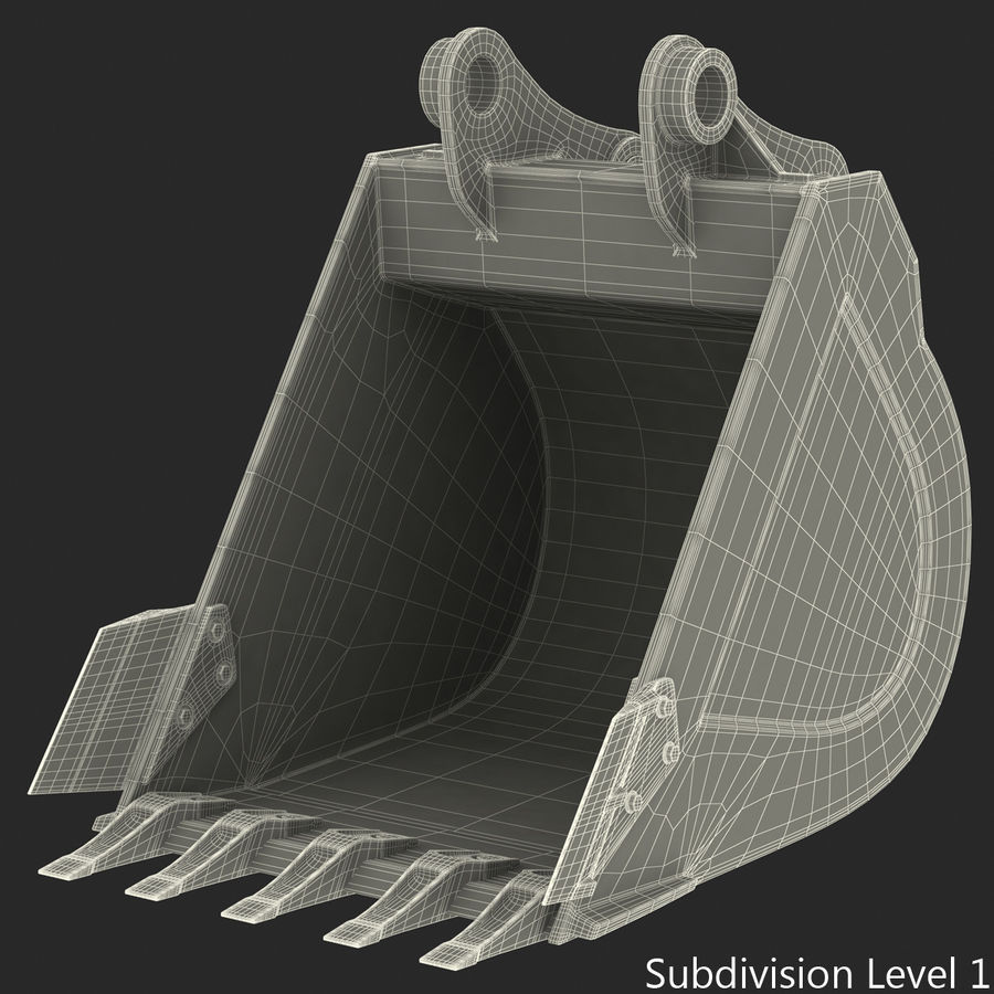 Excavator Bucket royalty-free 3d model - Preview no. 10