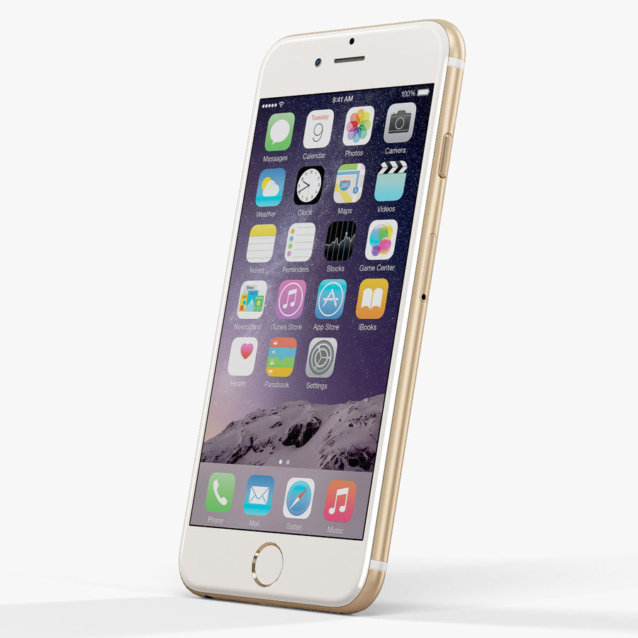 アップルiPhone 6 royalty-free 3d model - Preview no. 3