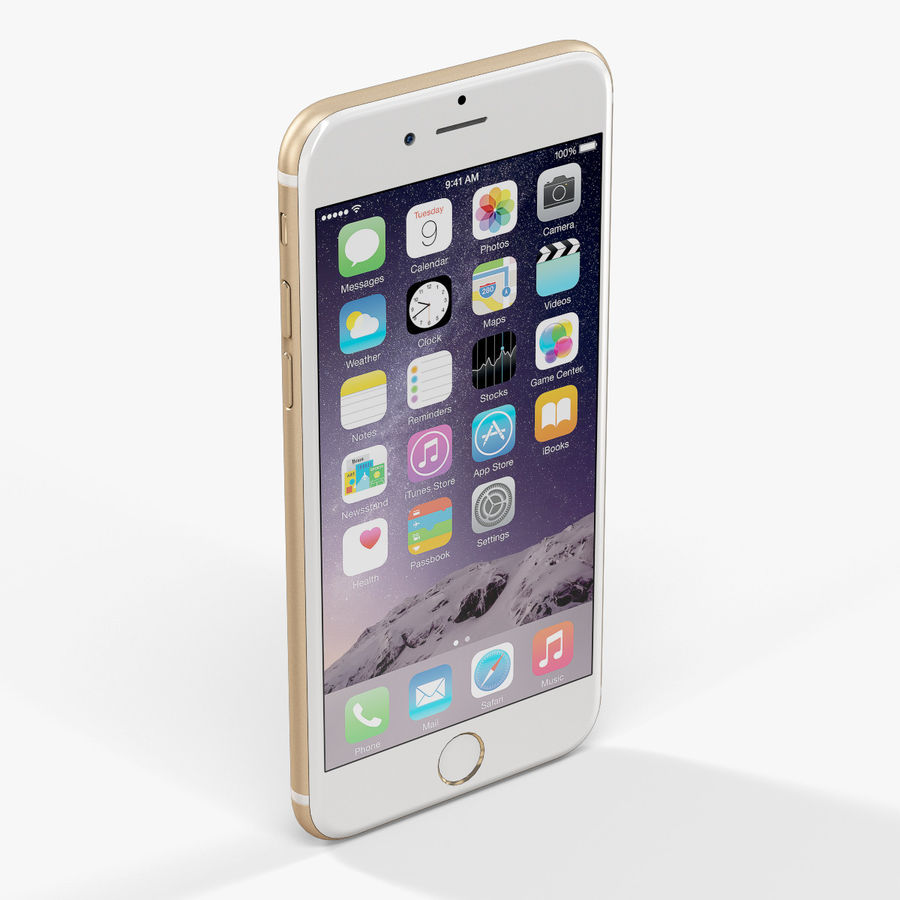 アップルiPhone 6 royalty-free 3d model - Preview no. 4