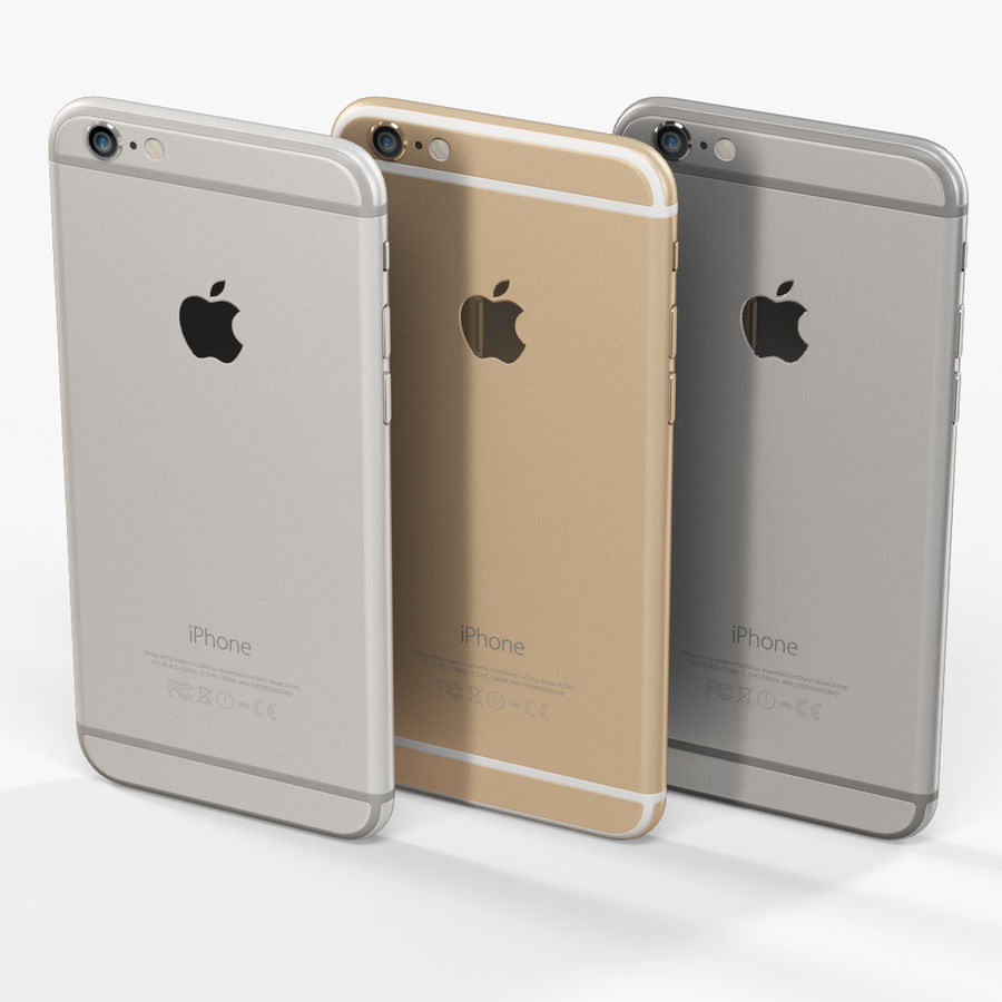 アップルiPhone 6 royalty-free 3d model - Preview no. 9