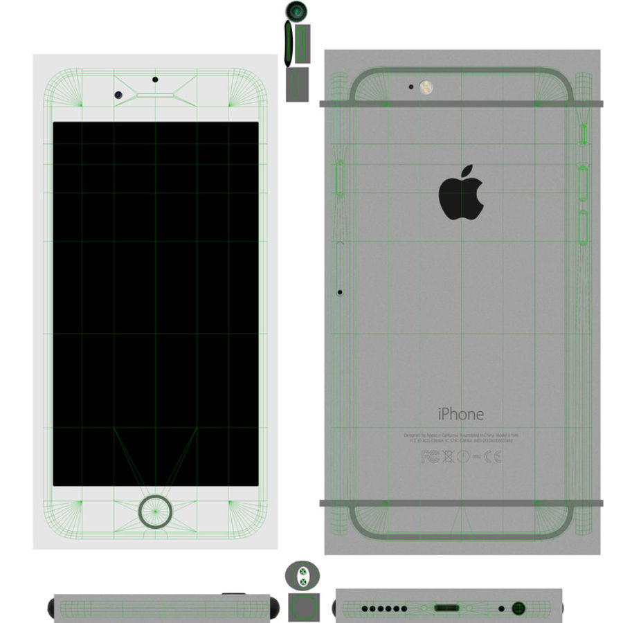 Apple iPhone 6 royalty-free 3d model - Preview no. 17