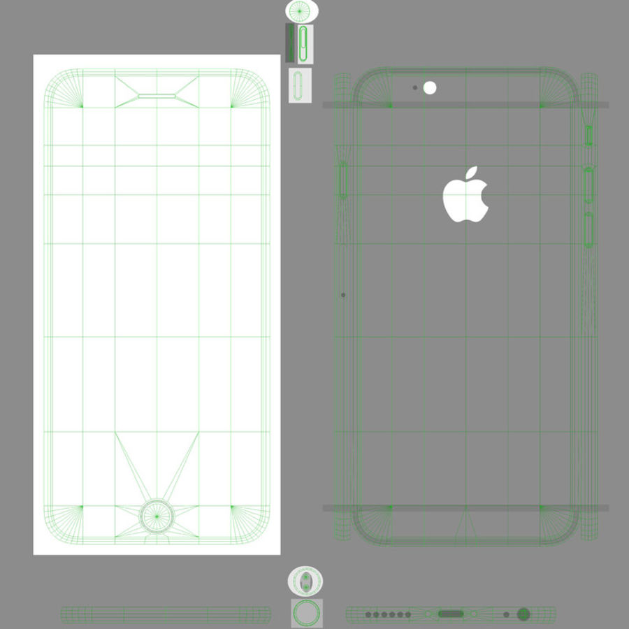 アップルiPhone 6 royalty-free 3d model - Preview no. 19