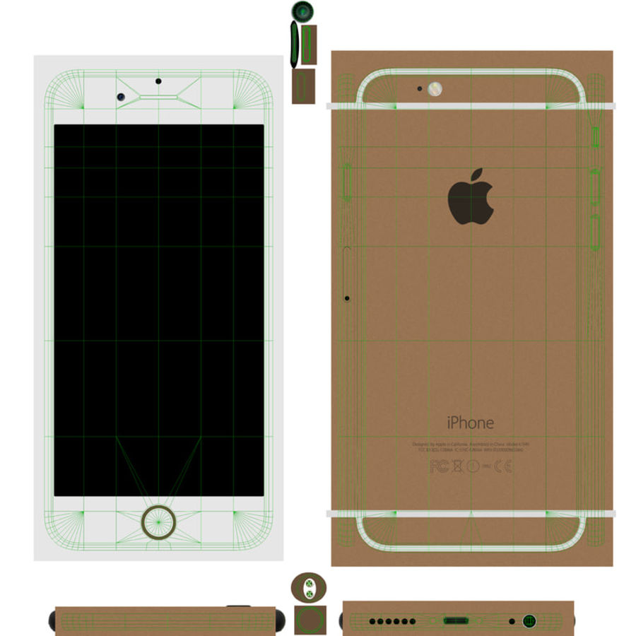 Apple iPhone 6 royalty-free 3d model - Preview no. 15