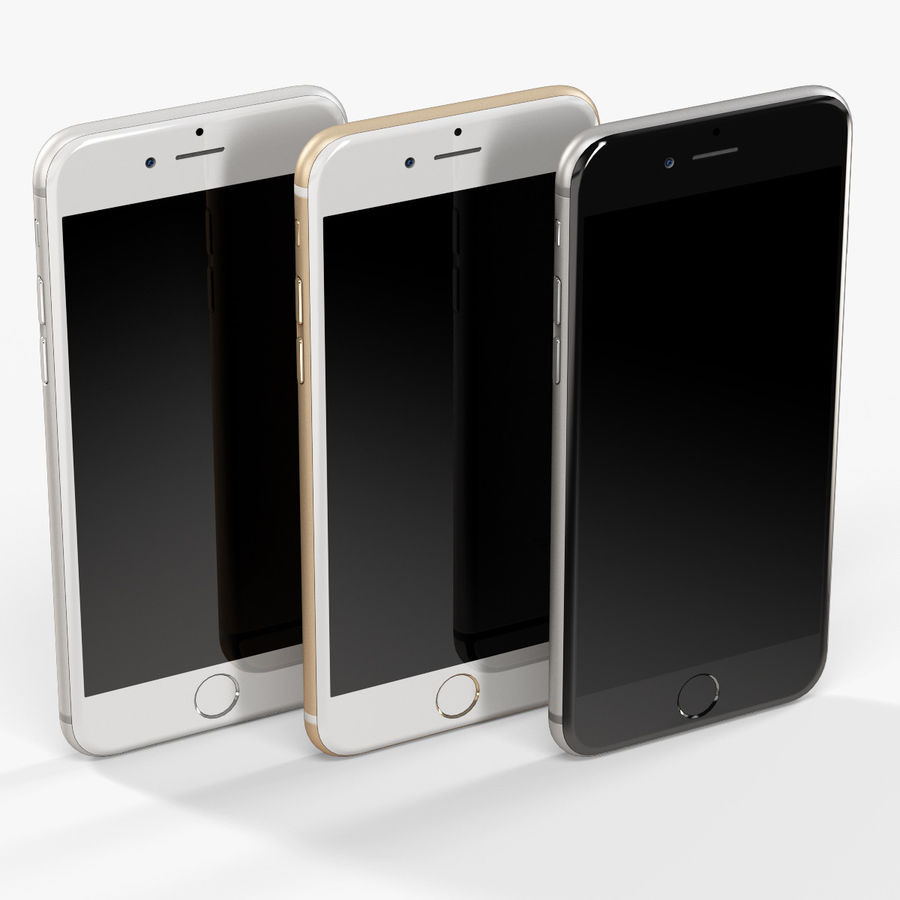 アップルiPhone 6 royalty-free 3d model - Preview no. 8