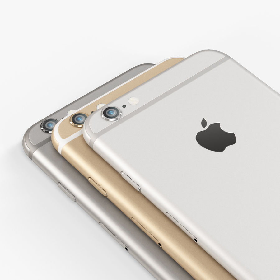 アップルiPhone 6 royalty-free 3d model - Preview no. 10