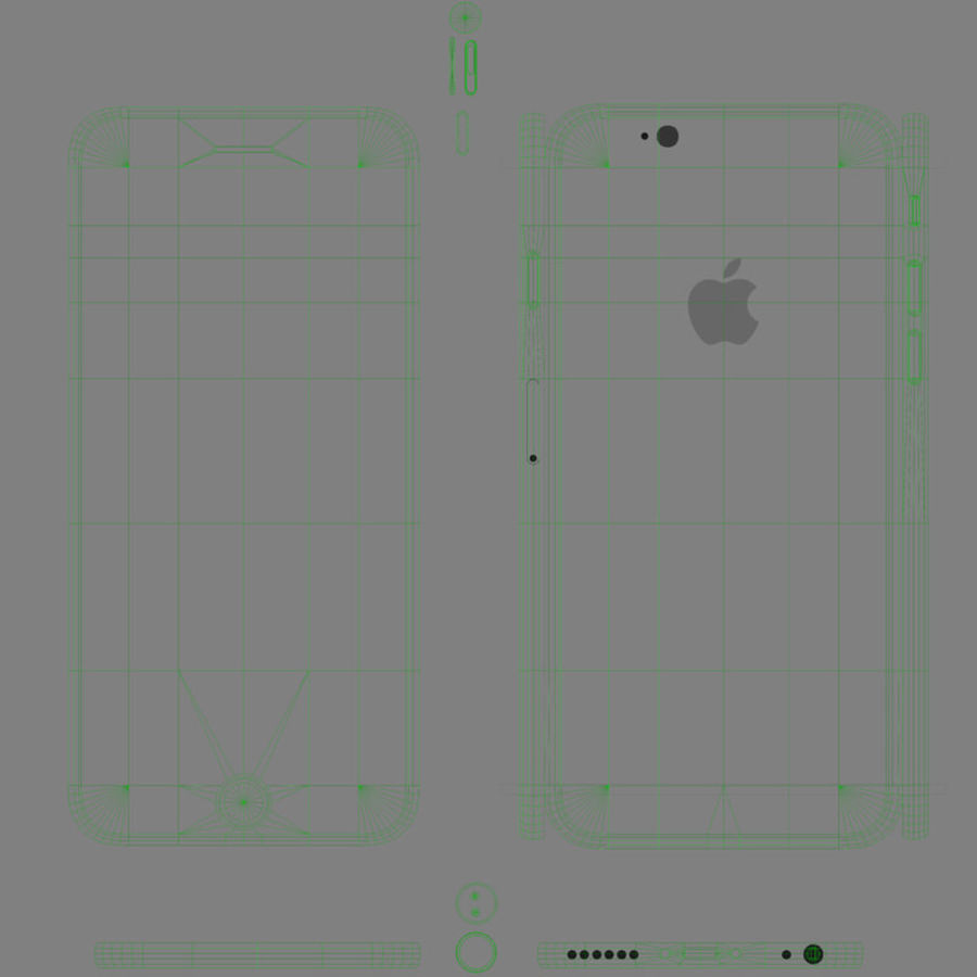 アップルiPhone 6 royalty-free 3d model - Preview no. 14