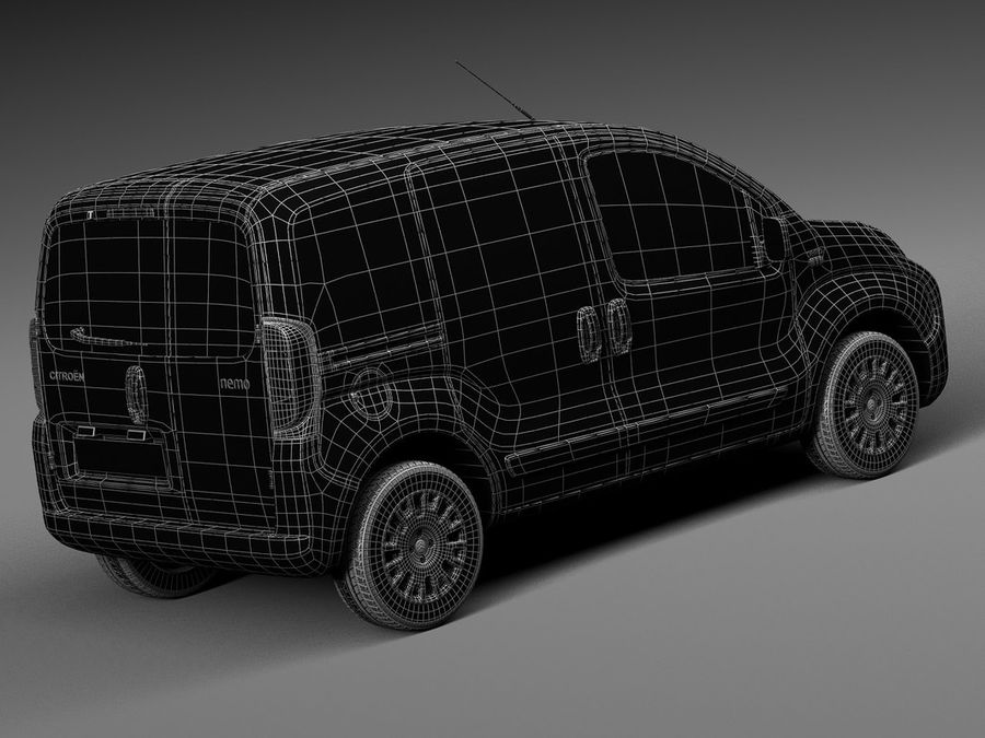 Citroen Nemo 2008 royalty-free 3d model - Preview no. 16
