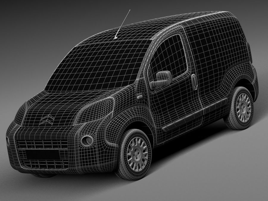 Citroen Nemo 2008 royalty-free 3d model - Preview no. 13