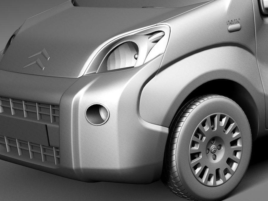 Citroen Nemo 2008 royalty-free 3d model - Preview no. 10
