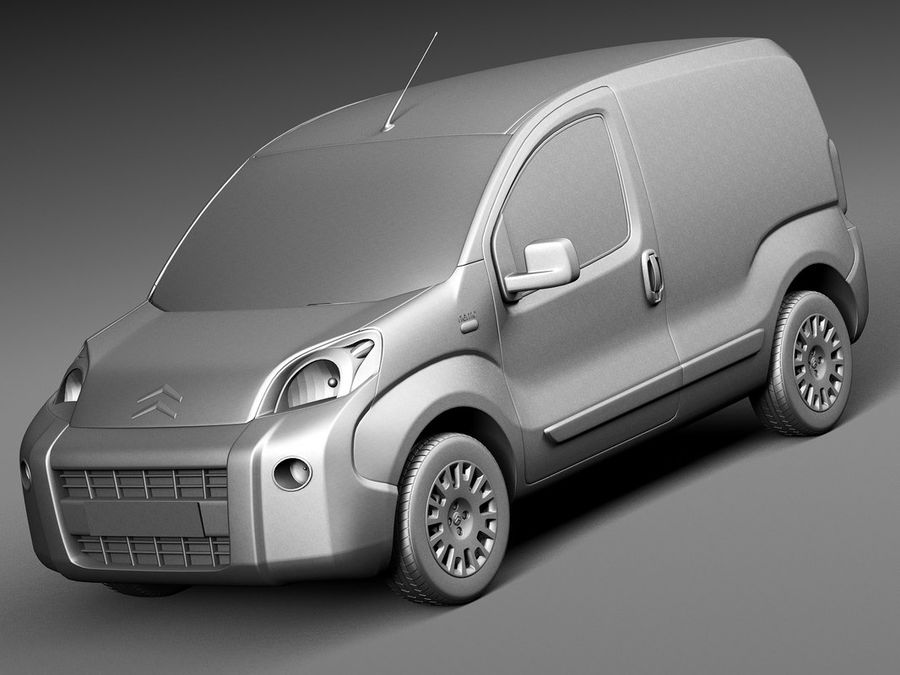 Citroen Nemo 2008 royalty-free 3d model - Preview no. 9