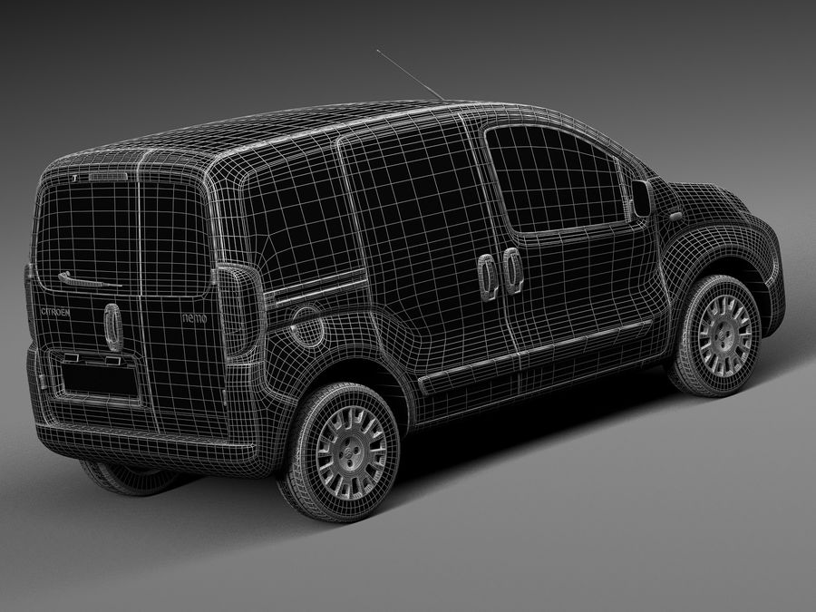 Citroen Nemo 2008 royalty-free 3d model - Preview no. 14