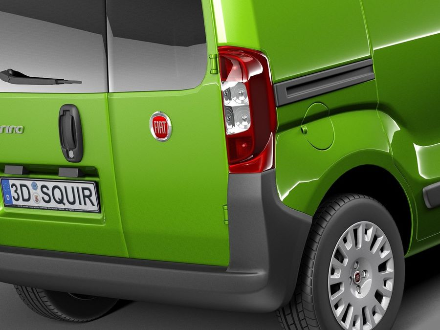 Fiat Fiorino 2008 royalty-free 3d model - Preview no. 4