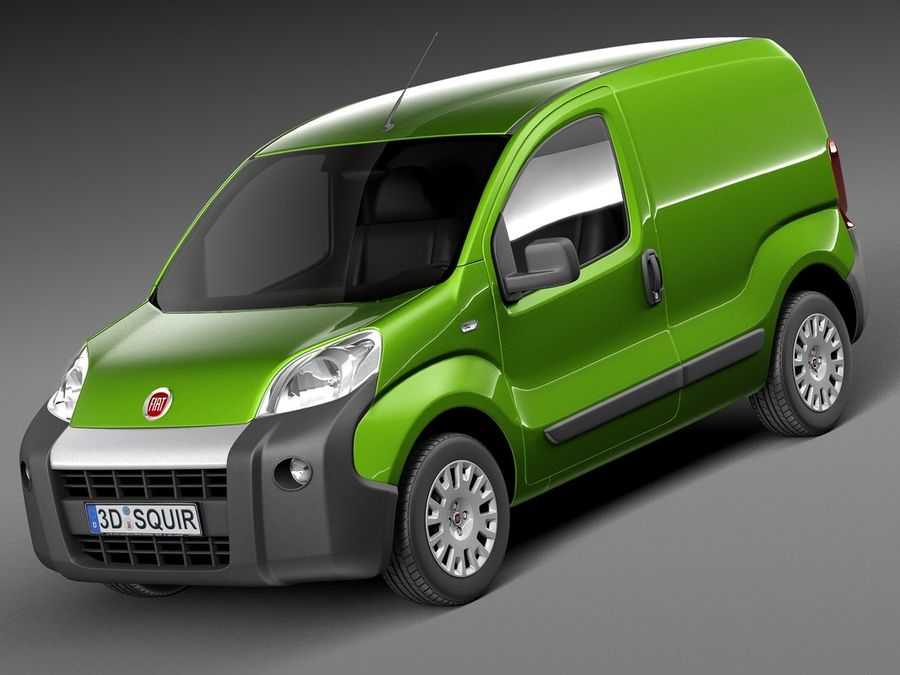 Fiat Fiorino 2008 royalty-free 3d model - Preview no. 1