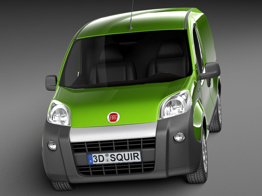 Fiat Fiorino 2008 royalty-free 3d model - Preview no. 2