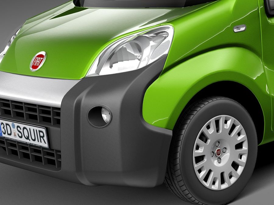 Fiat Fiorino 2008 royalty-free 3d model - Preview no. 3