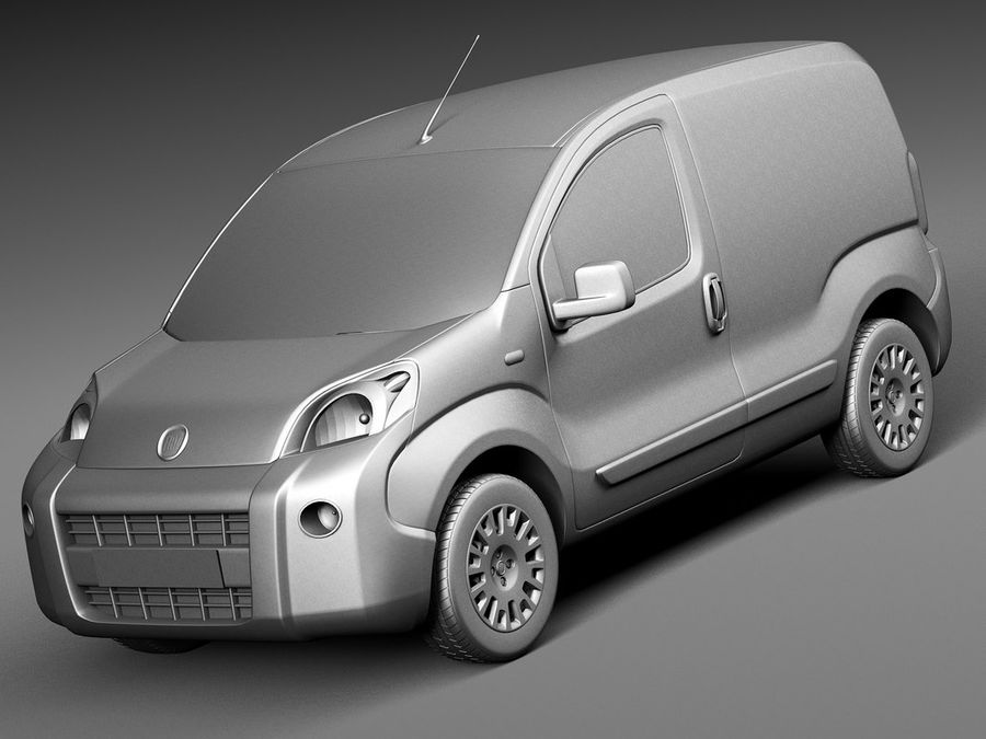 Fiat Fiorino 2008 royalty-free 3d model - Preview no. 9