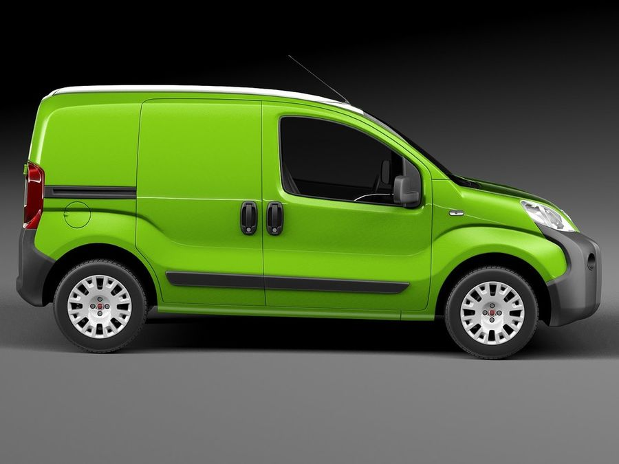 Fiat Fiorino 2008 royalty-free 3d model - Preview no. 7