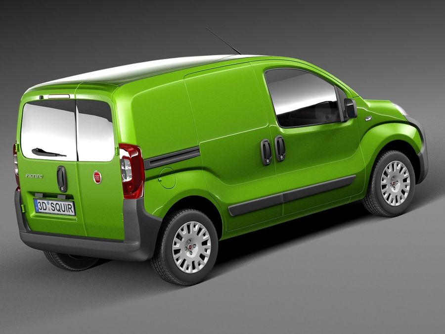 Fiat Fiorino 2008 royalty-free 3d model - Preview no. 5